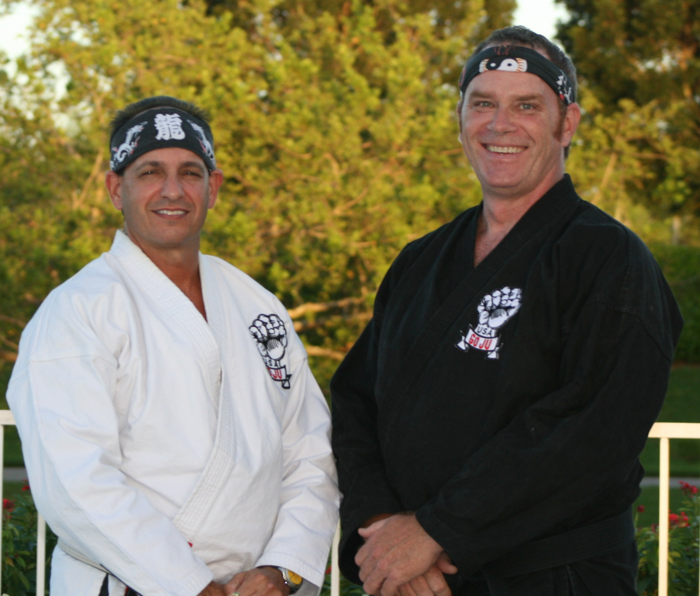 Sensei Schopp (left) and Sensei Proctor (right) teach USA Goju Karate in Weston, Florida